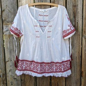 Odd Molly Embroidered Pintuck Blouse 2 (M)